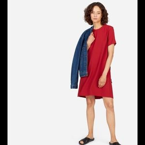 Everlane red Japanese go weave A-line dress